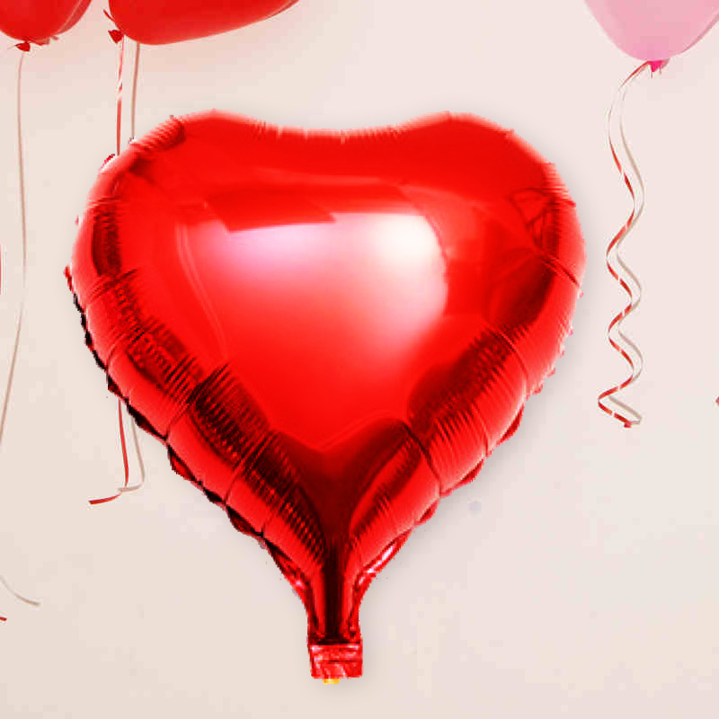 Marriage room layout creative wedding wedding decoration large aluminum foil heart shaped balloon love balloon wedding supplies