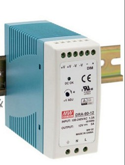 [Meanwell authorized distributor] DRA-60-12 slideways meanwell switching power supply 12v5a 60 w current can be programmed