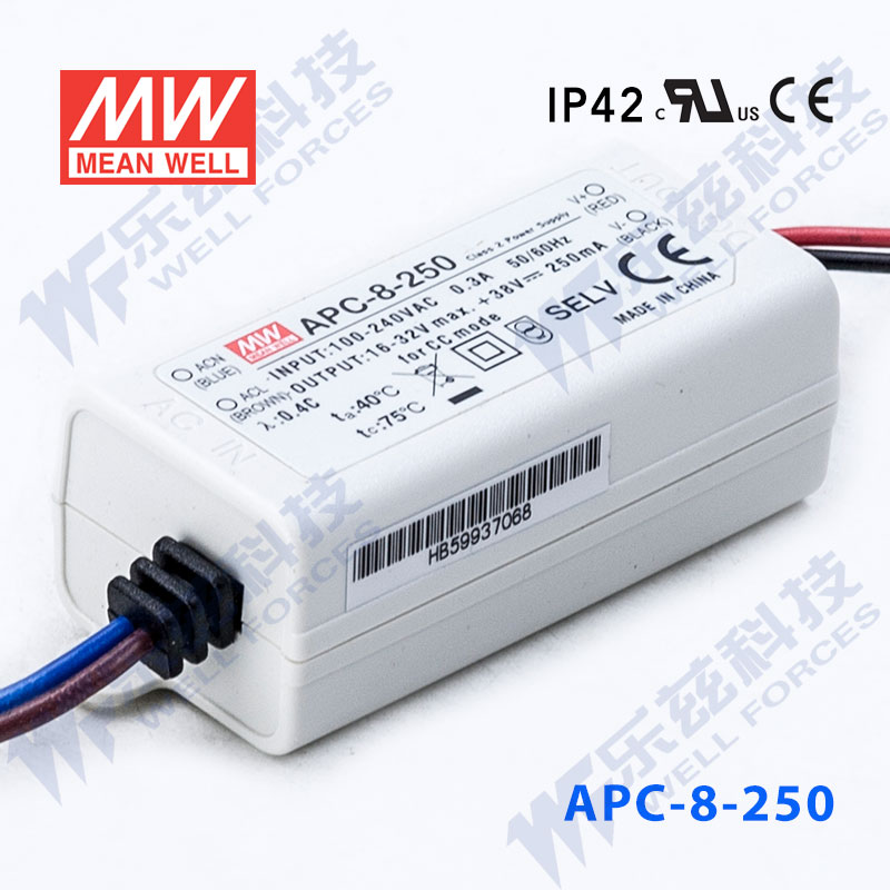 Meanwell waterproof led constant current power supply 8 w APC-8-250 16-32v 250mA [including tax sf]