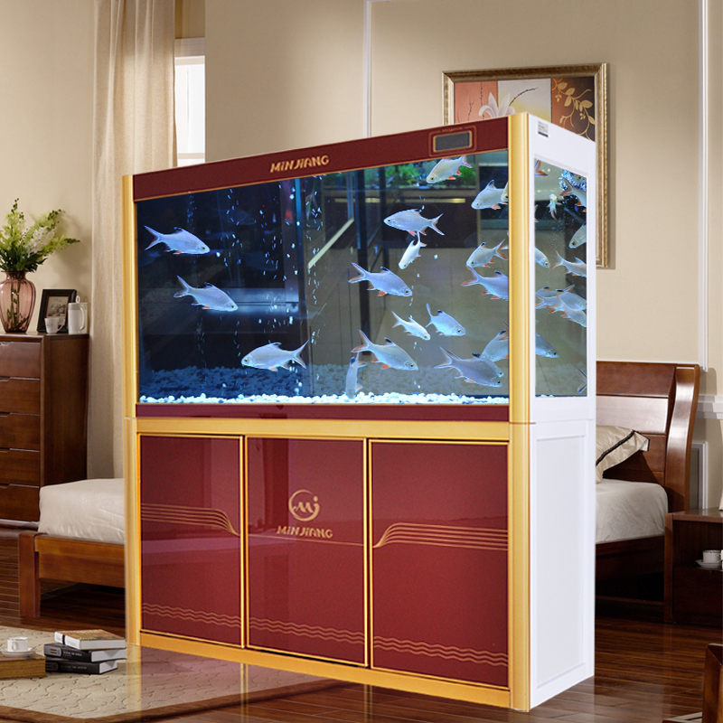 Medium-sized fish tank aquarium minjiang 1.2 m living room large 1.5 m 1.8 m ultrawhite glass bottom of the filter