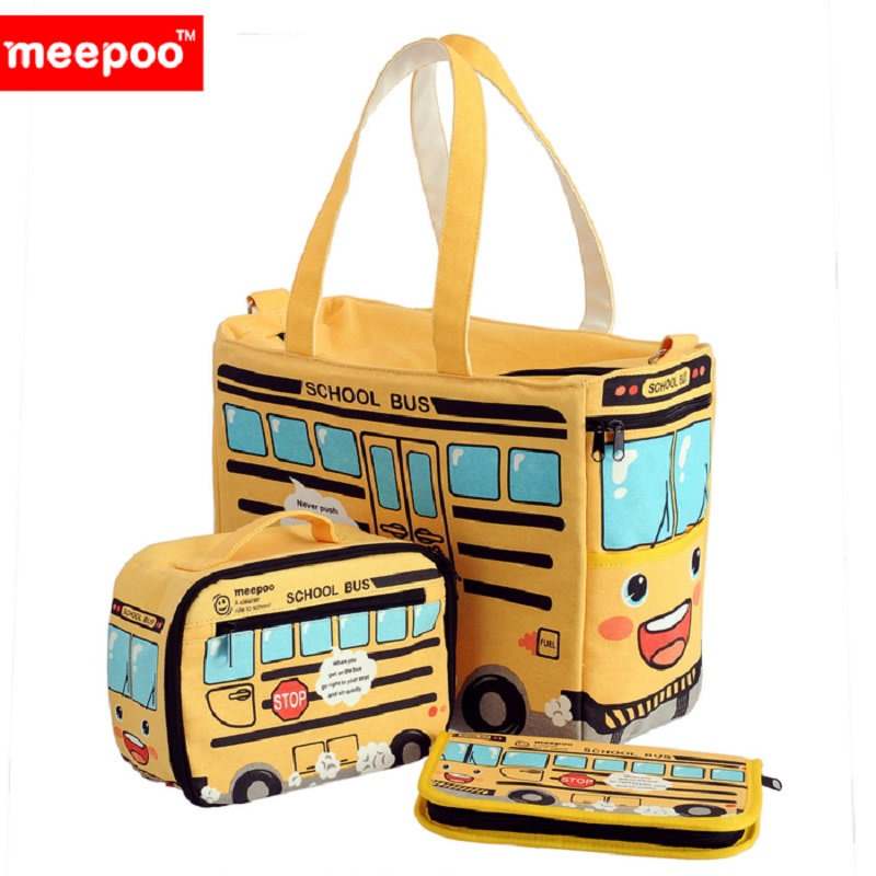 Meepoo cute multifunction mummy bag/mummy package to be produced package can be slung hang carts yellow bus series