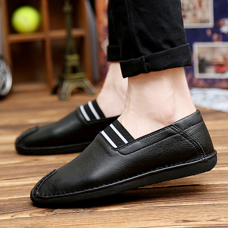 Men fall peas shoes tide of england men's shoes tide shoes youth fashion shoes men black casual shoes tide