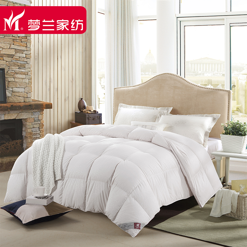 Menglan textile new fashion type upscale selling genuine 90% white duck down duvet thick autumn and winter light luxury models