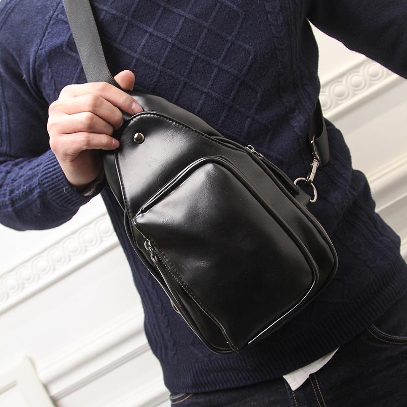 9d6b2536db6d Get Quotations · Men s chest pack pockets outdoor leisure bag man bag  korean tidal backpack shoulder messenger bag leisure