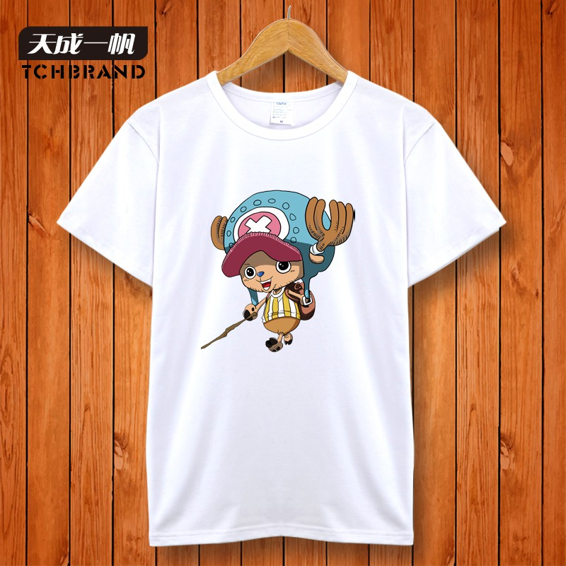 Men's summer ambassador ciobanu anime one piece big yards female teenage student short sleeve t-shirt lovers clothes