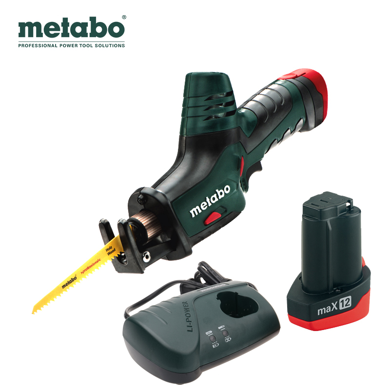Metabo/metabo lithium tools v rechargeable lithium battery can multifunction saber saw reciprocating saw blade chainsaw