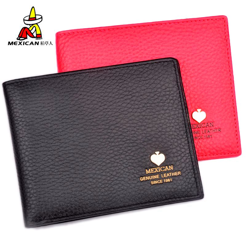 Mexican/scarecrow female leather wallet ms. short paragraph leather purse wallet new female cross wallet
