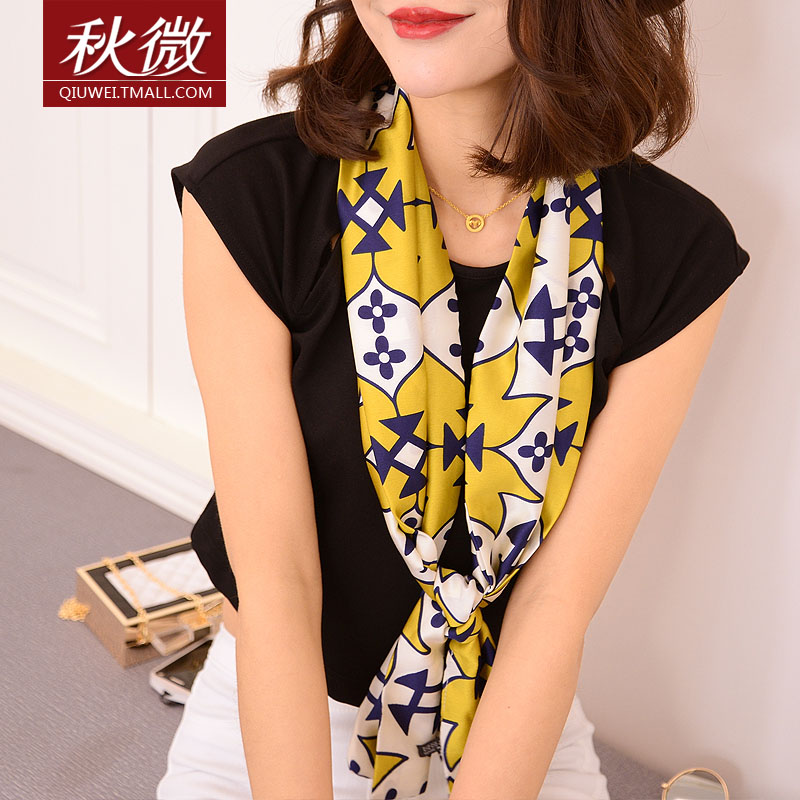 Micro autumn 2016 double spring and winter scarves ms. winter scarves printed scarves draped dual shoulder long section of double