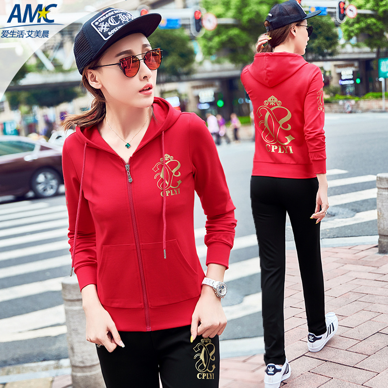 Middle-aged sports suit female spring and autumn 2016 autumn new mom mother dress middle-aged middle-aged women's casual sportswear autumn