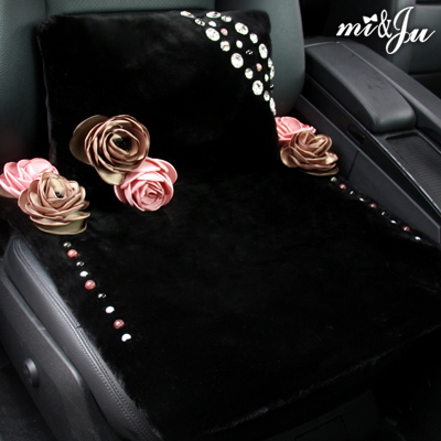 Miju when black australian wool car seat suit rosaceous luxury crystal with diamond inlaid diamond drill 09