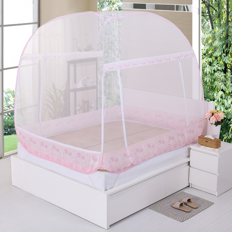 Mini house genuine fantasy yurt nets three open top side door free installation free shipping