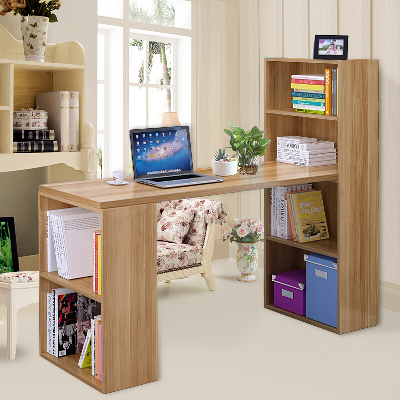 Minimalist modern home desktop computer desk corner computer desk combination bookcase desk with bookcase desk office desk