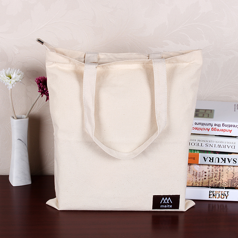 Minimalist shoulder portable supermarket shopping bags thicker oversized canvas nonwovens creative folding bags