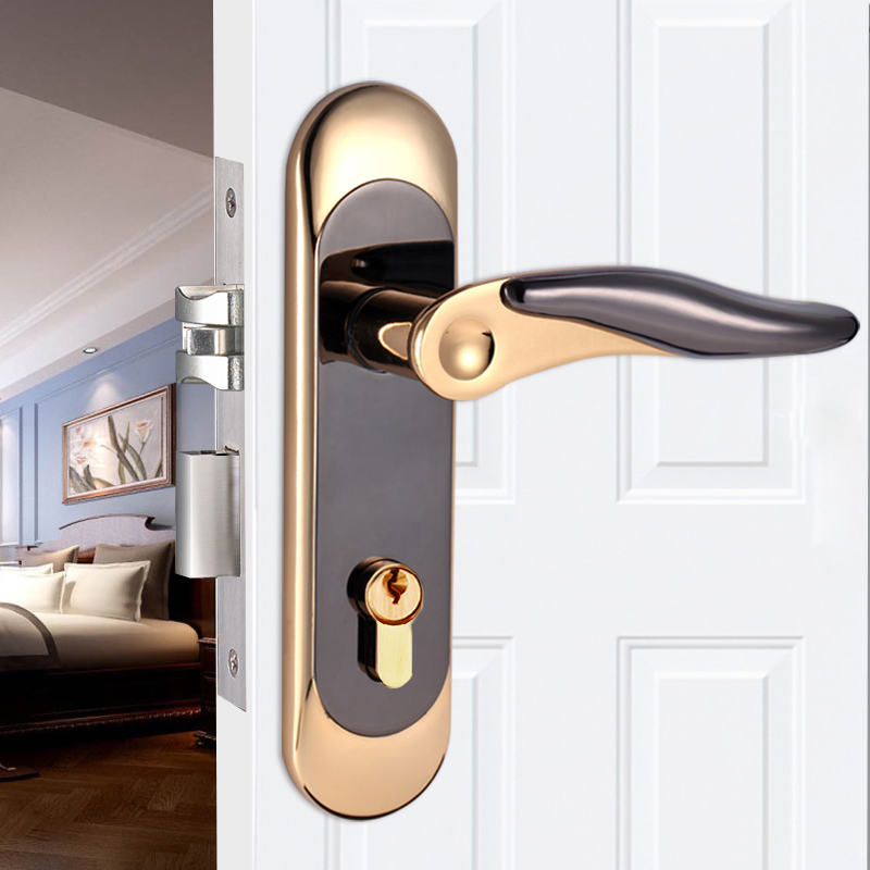 Get Quotations · Minimalist Stainless Steel Security Doors Wooden Doors  Bedroom Door Interior Door Locks Mute Toilet Bathroom Kitchen