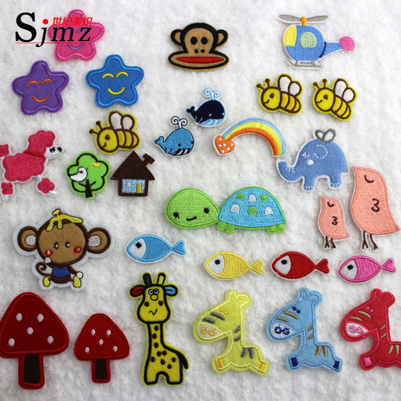 Miori century weaving cloth stickers hot paste stickers affixed adhesive stickers affixed children baby clothes cartoon cloth patch stickers affixed