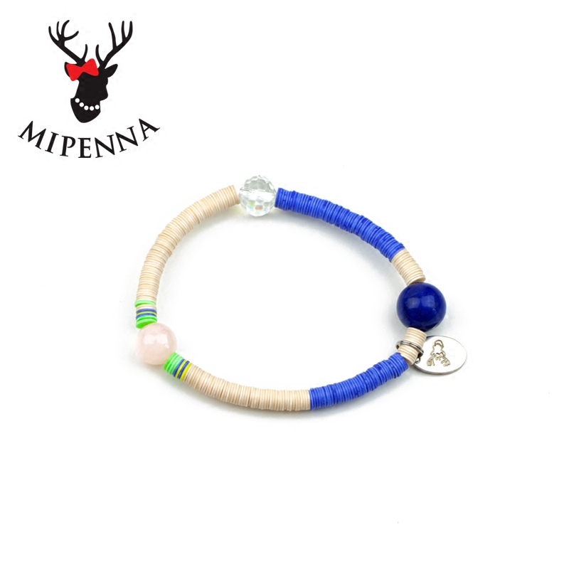 Mipenna mi bona lovely shell color crystal beaded bracelet female characteristics jewelry japan and south korea christmas gifts