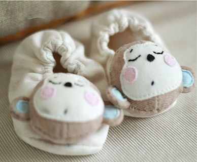 Mira pula handmade original design monkey baby shoes material bag