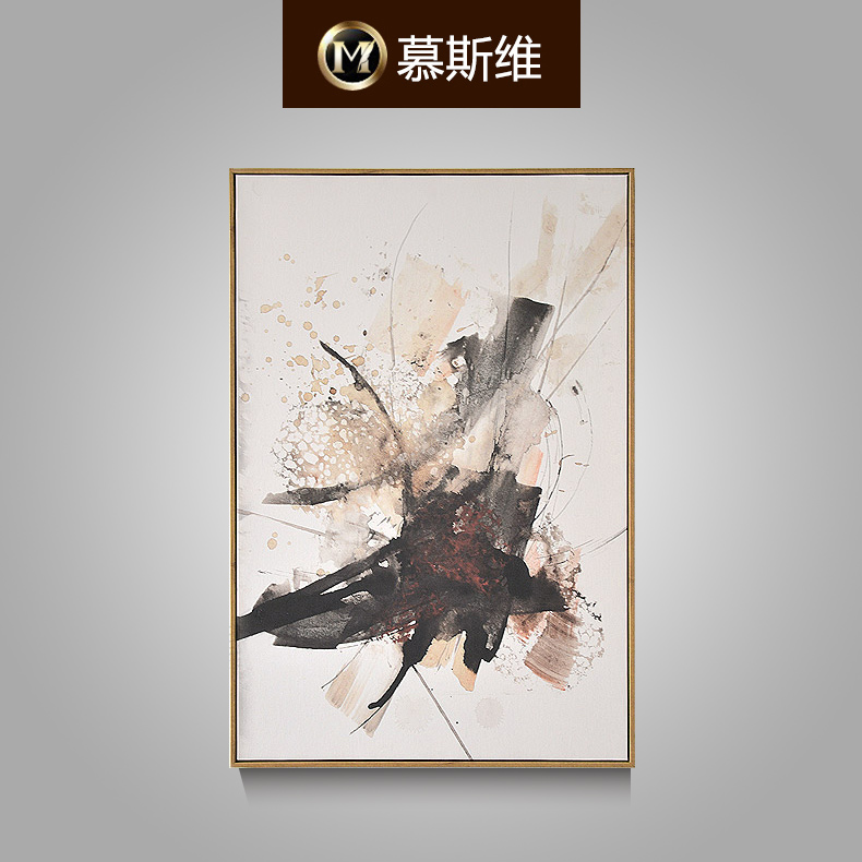 Misiti dimentional pure hand painted oil painting modern minimalist restaurant entrance wall painting paintings triple sofa backdrop xu song