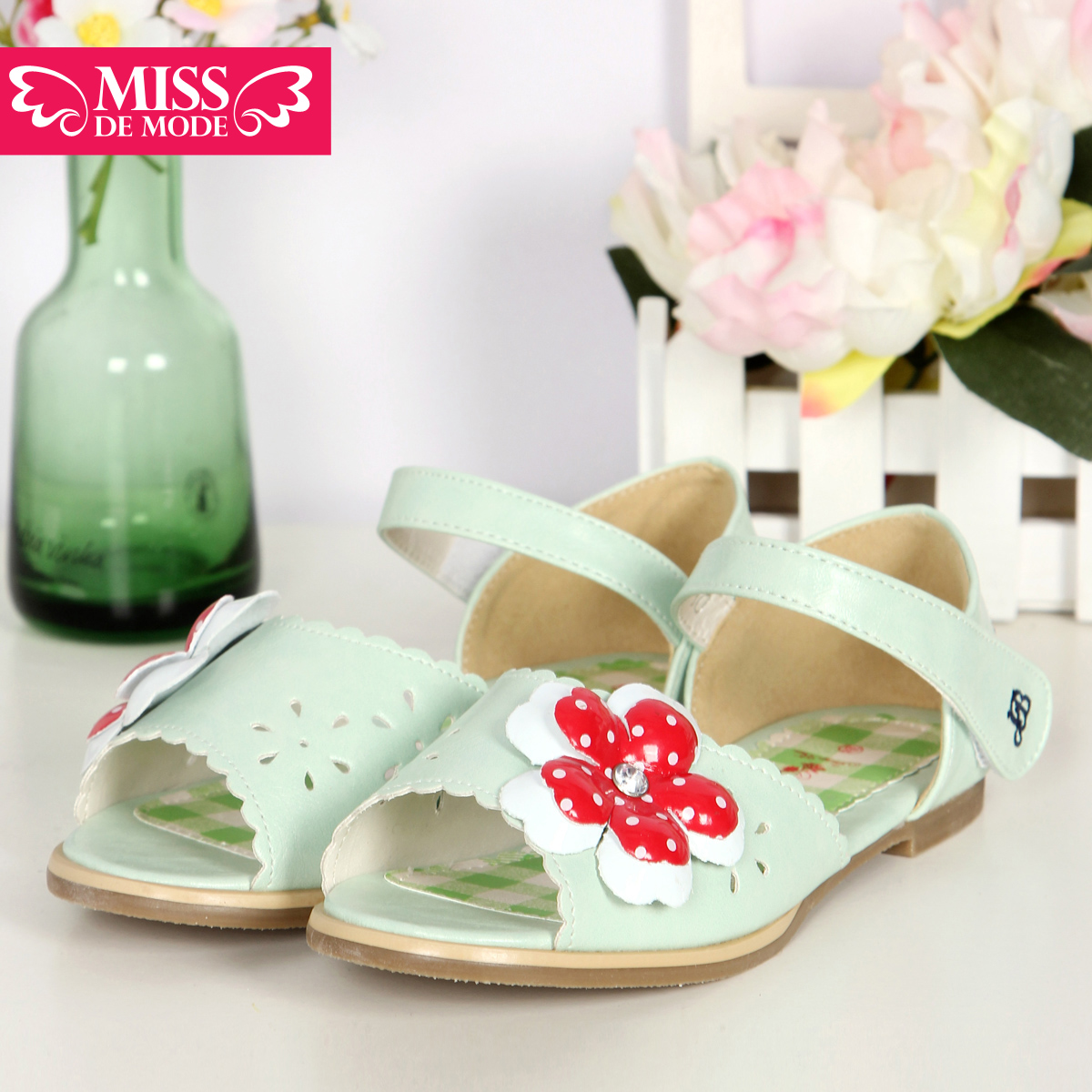 Miss green box kids modern girls shoes buckle sandals casual shoes 16 summer new 20