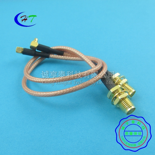 Mmcx-jw turn sma cable sma male threaded bore turn mmcx-jw bend male coaxial rf cable 20 cm