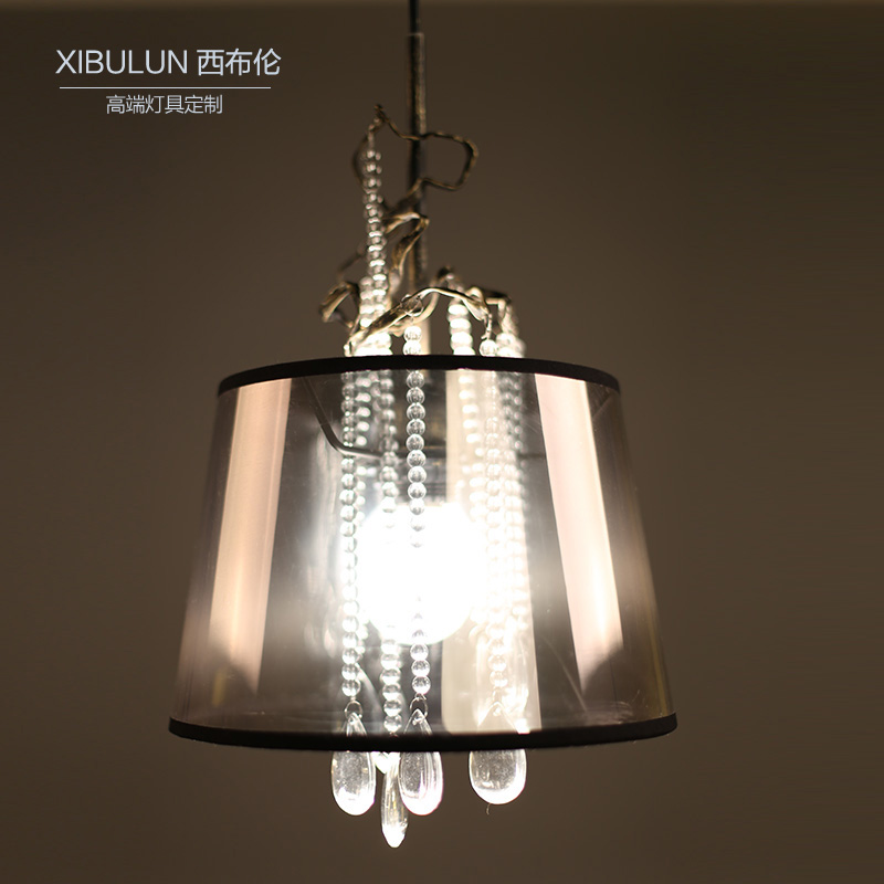 Modern and simple crystal pendant lamp led creative personality staircase chandelier bar chandelier creative fashion crystal lamp personality
