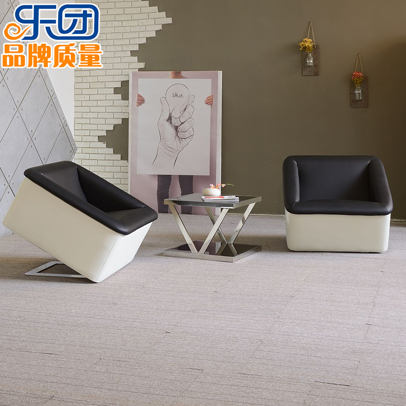 Modern and stylish office den sofa combination minimalist coffee table to discuss the reception parlor cafe sofa single digit