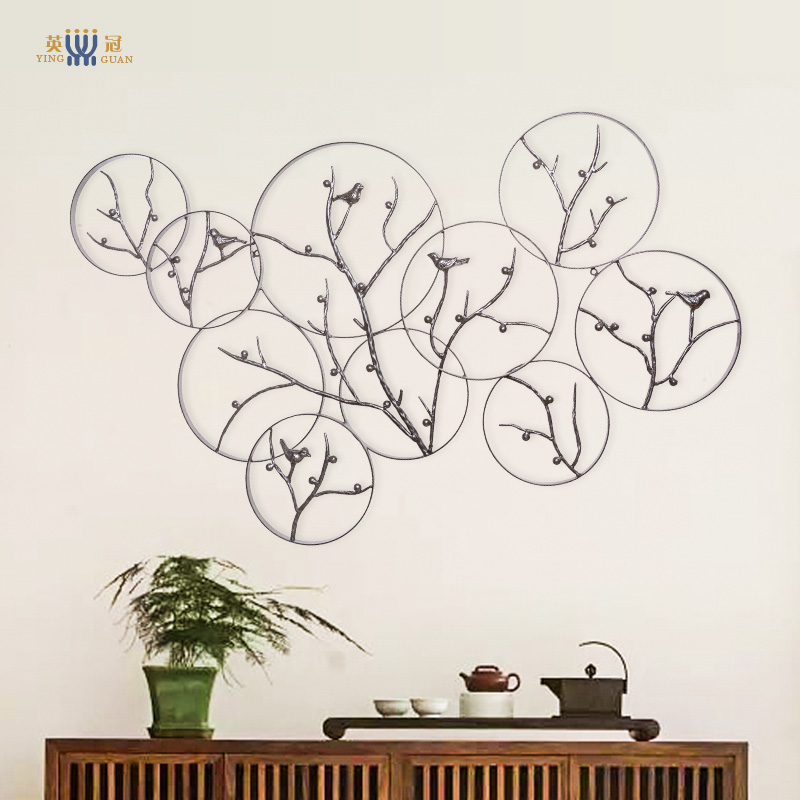 Modern chinese teahouse study vintage wrought iron decorative wall hangings decorative wall hangings living room wall decoration decorations decorative wall hanging