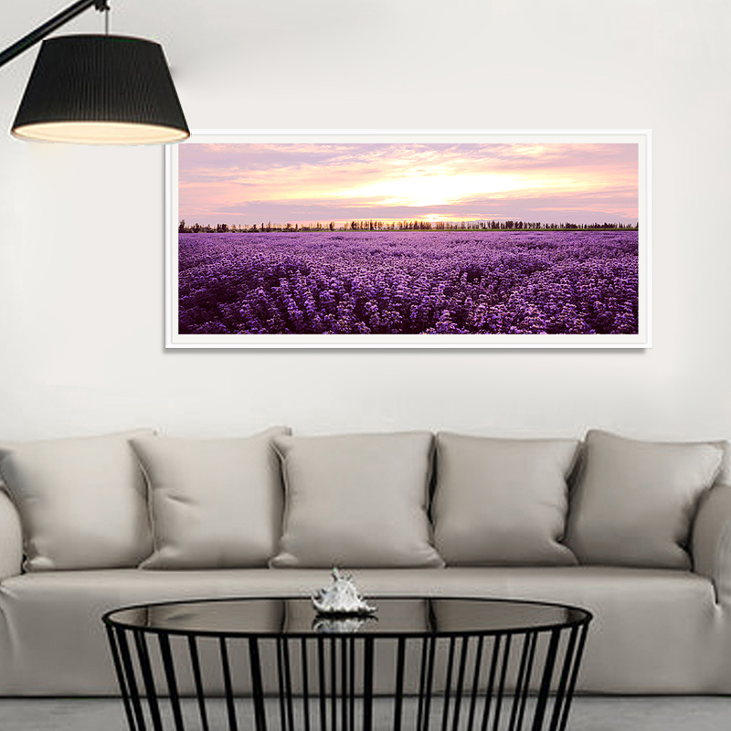 Modern decorative painting framed painting of european electrical box decorative painting mural paintings sofa wall painting off the mysterious painting-dawn lavender Grass
