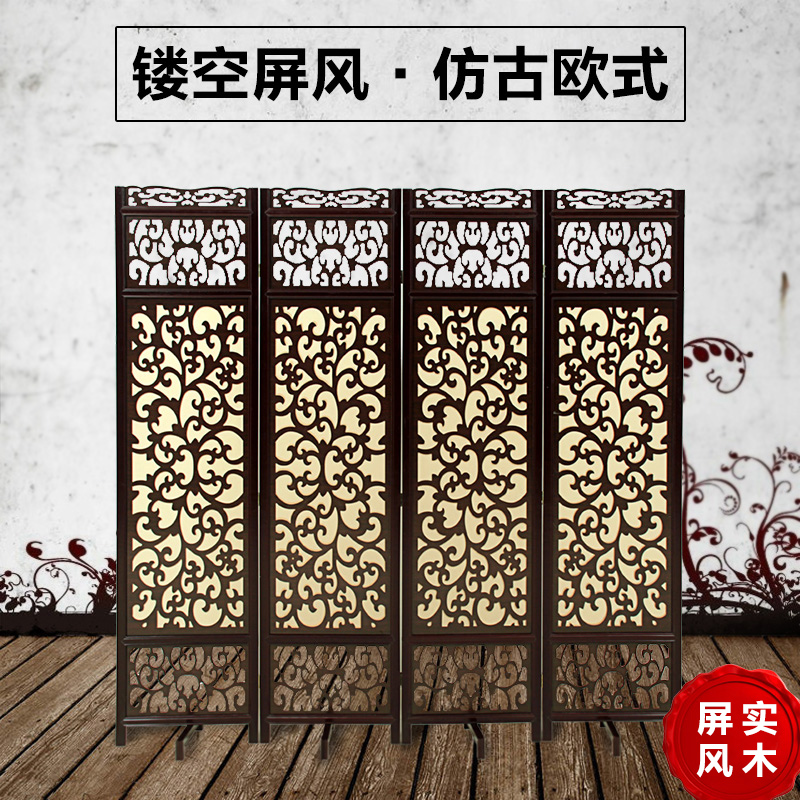 Modern hotel bedroom living room wall panels screen porch seat hollow simple and stylish screen folding screen porch european custom