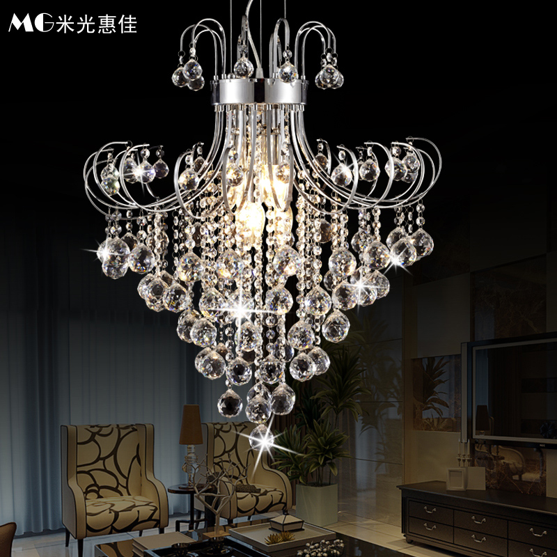 Modern minimalist led crystal chandelier european creative living room lamp crystal lamp bedroom lamp dining hall chandelier