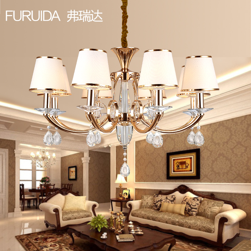 Living Room Lamp Crystal Lamp Round Ceiling Lamp Led Modern Minimalist Atmosphere European Bed Restaurant Lamp Complete Range Of Articles Lights & Lighting Ceiling Lights & Fans
