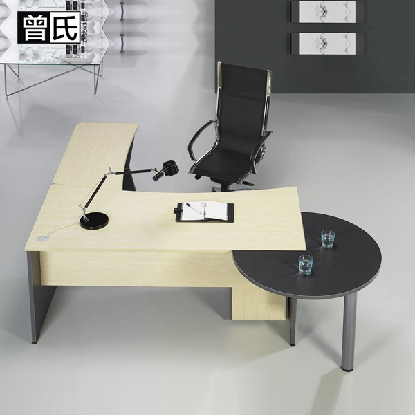 Modern office furniture desk stylish simplicity boss desk desk manager in charge of the table with a half round table