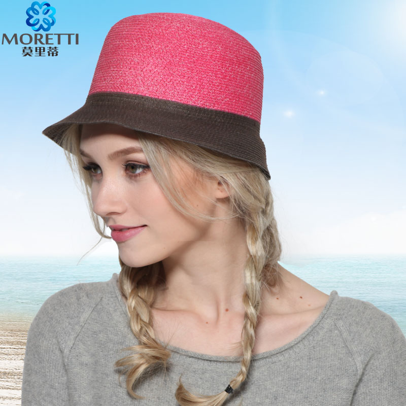 Moli di ms. visor ms. color foldable large brimmed hat straw sun hat beach hat