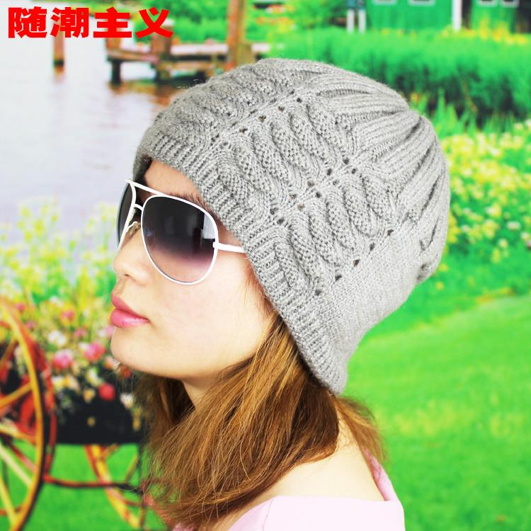Mom hat lady hats in the elderly warm autumn and winter days knitting wool hat knitted hat male winter hats and cashmere