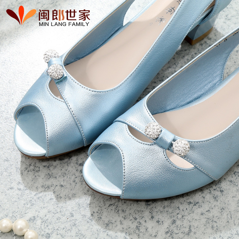 19bf925749018 Get Quotations · Mom leather sandals soft bottom middle-aged middle-aged women  sandals fish head sandals