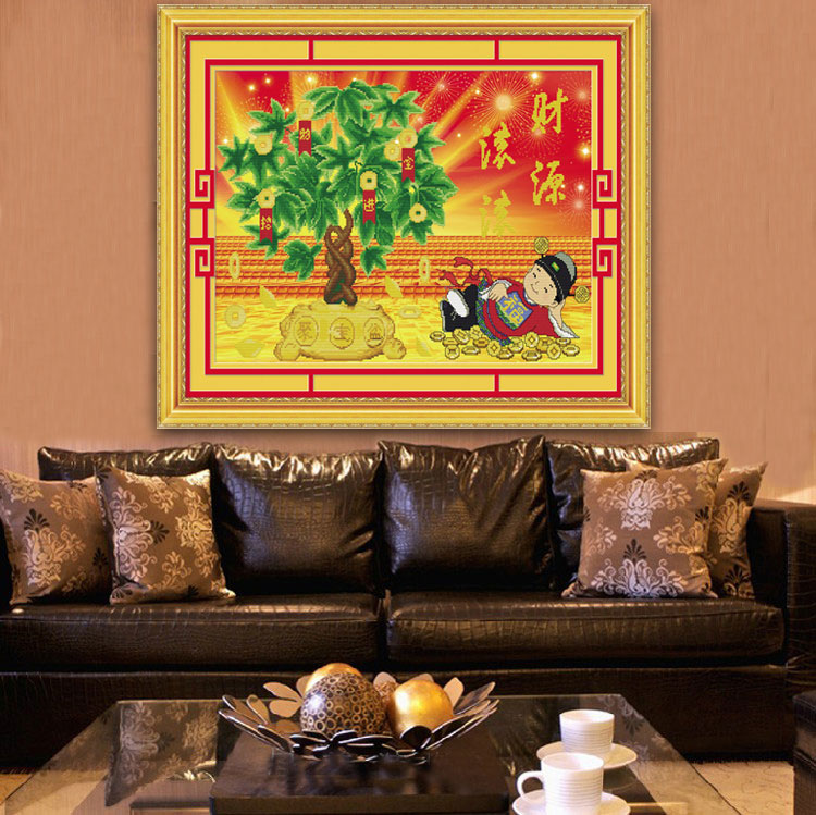 Mona lisa 3d stitch living room painting printing stitch stitch stitch extra cash zhaocaijinbao moneymaker