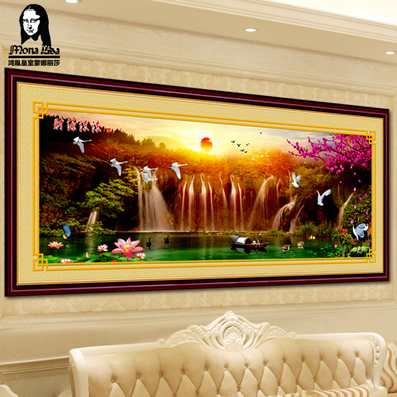 Mona lisa substantial new printed full embroidery embroidery stitch extra cash flow to make money mountain water painting the living room landscape series
