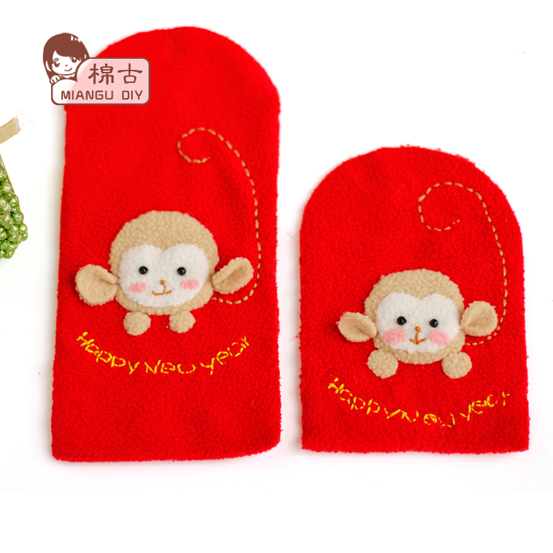 Monkey baby handmade diy creative new year red envelopes red envelopes yasui package coin pocket treasure zodiac monkey diy material package