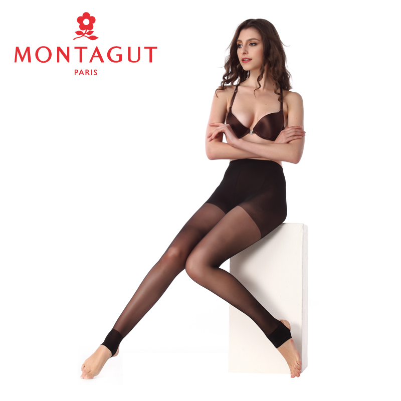 Montagut high double plus crotch step foot socks raveling nylon-6 wolf paragraph summer slim velvet stockings female backing