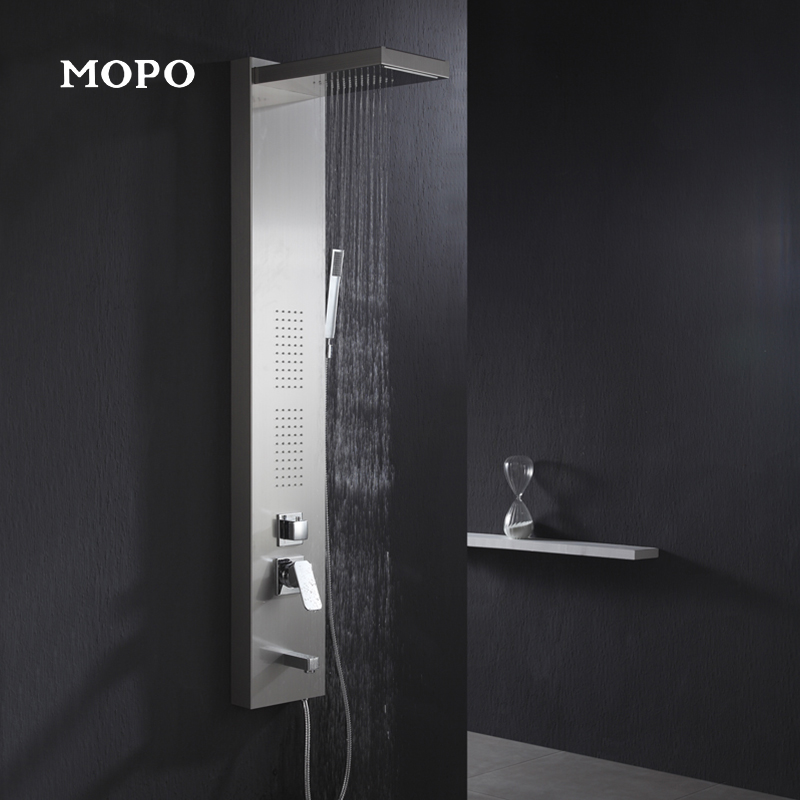 Modern Get Quotations · Mopo mopu mp 520 stainless steel shower panel thermostatic shower suite shower nozzle kit Picture - Style Of thermostatic shower panel Pictures