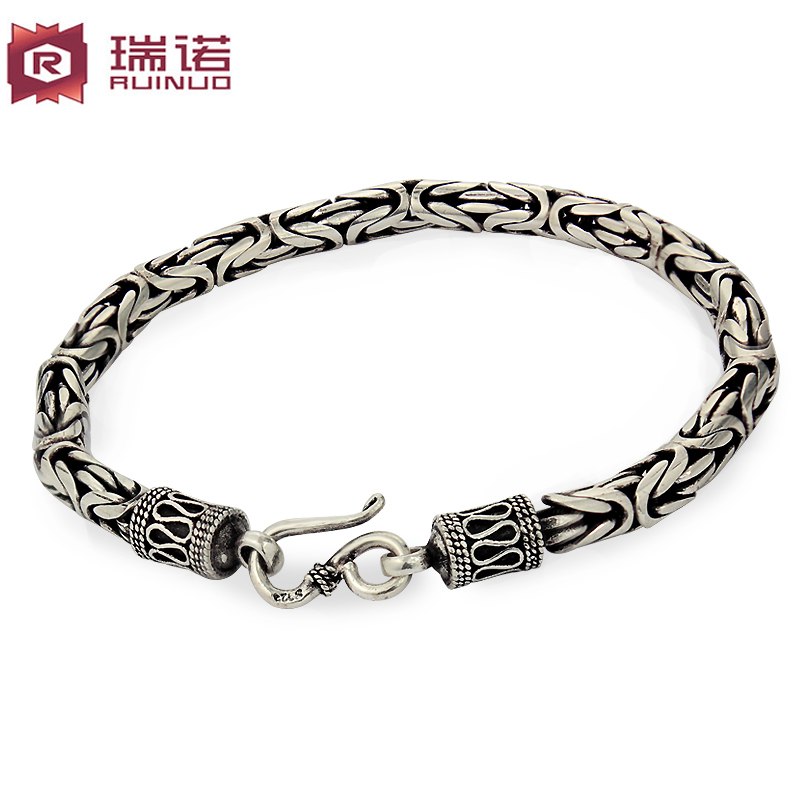 Moreno 925 silver jewelry jewelry cross bracelet men korean fashion personality retro thai silver jewelry