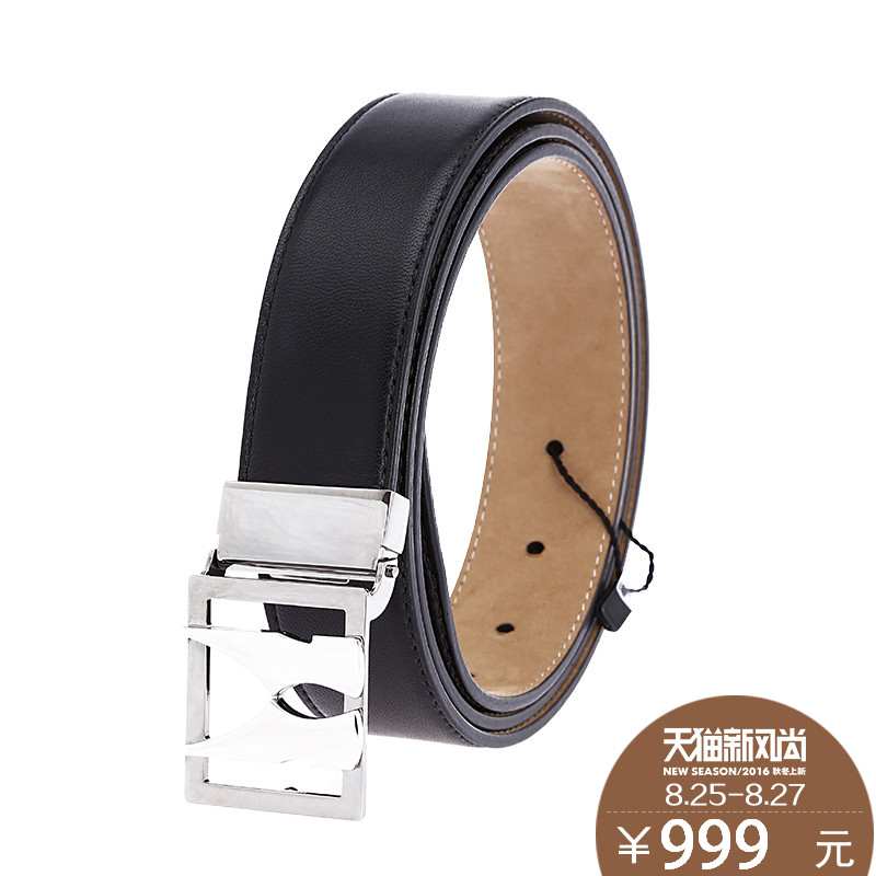Moreschi/摩里斯base needle belt buckle belt genuine leather belt men's sheepskin leather business fashion queen