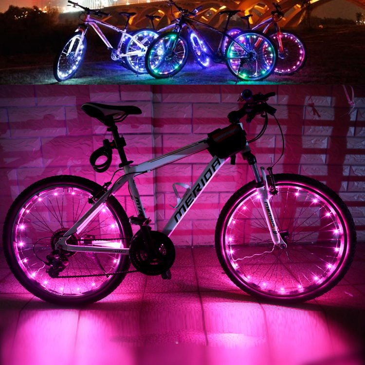 Mountain/road equipment dead fly bicycle spokes lamp lights hot wheels bicycle lights warning light lights night ride Accessories