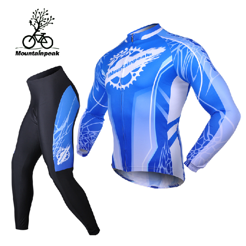 Mountainpeak jersey long sleeve suit male in spring and summer trousers bike riding mountain bike equipment