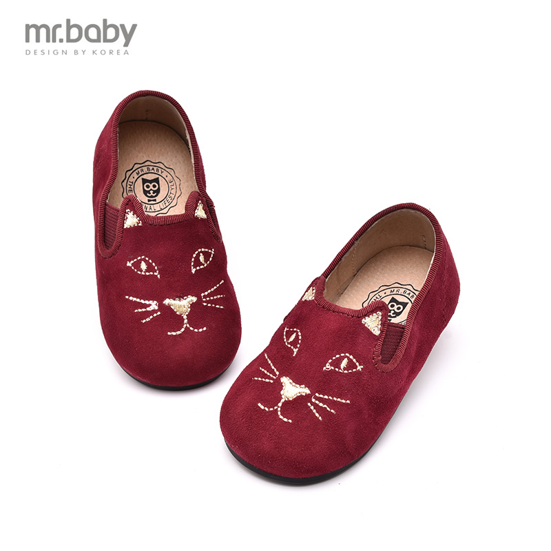 Mr. baby 2016 autumn korean version of playful cat cartoon casual shoes sheepskin baby girls shoes child shoes new