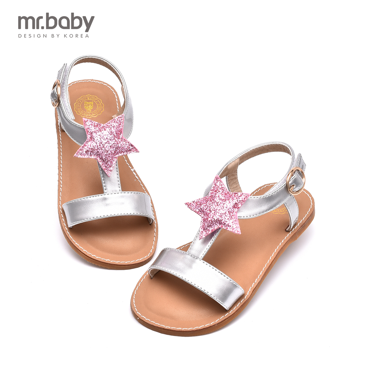Mr. baby korean girls pentagram boy shoes sandals 2016 summer new children's sandals beach fashion
