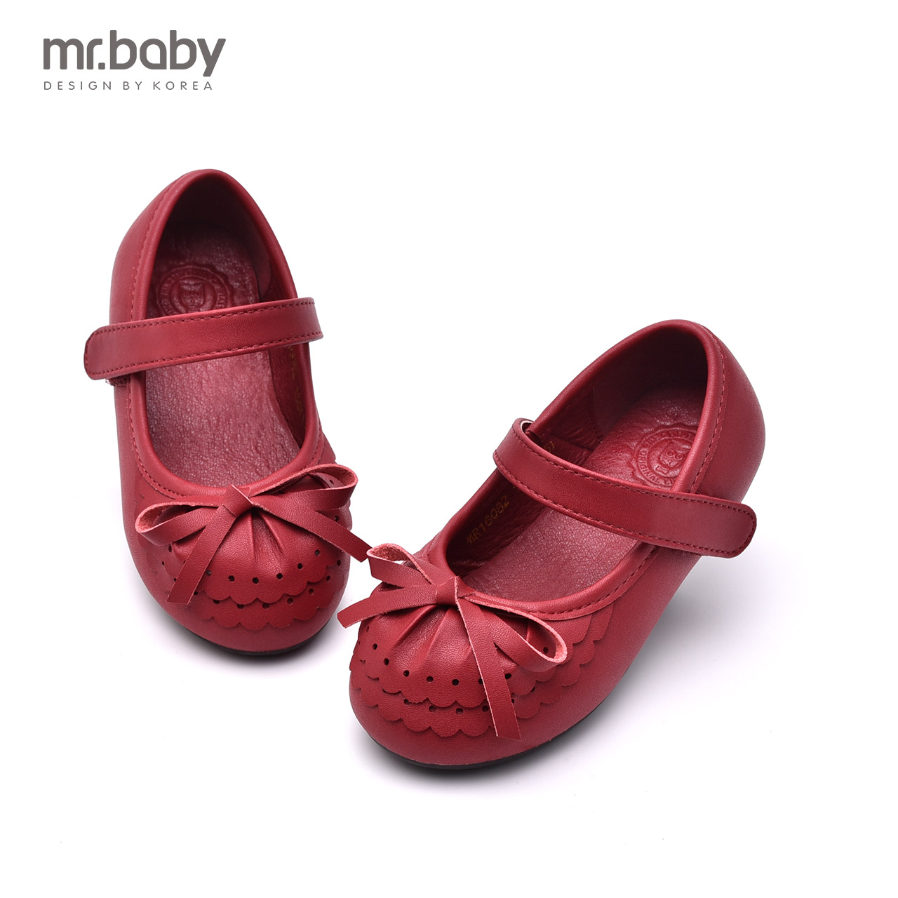 Mr. baby spring and autumn 2016 new bow shoes girls flouncing hollow single paragraph princess shoes