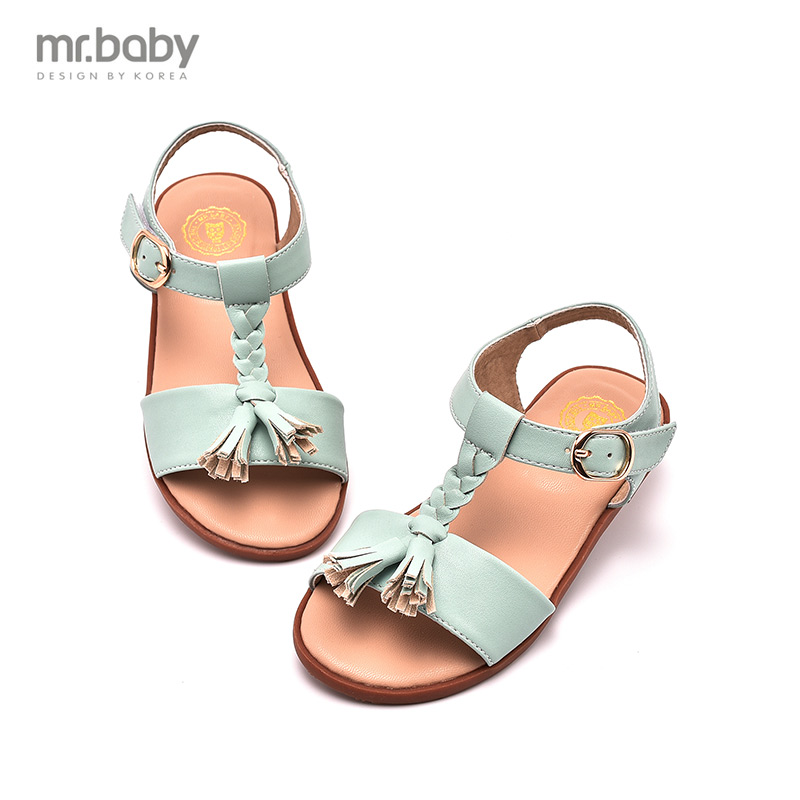 Mr. mr. baby2016 braid tassel new girls sandals princess shoes girls shoes children's summer fashion shoes
