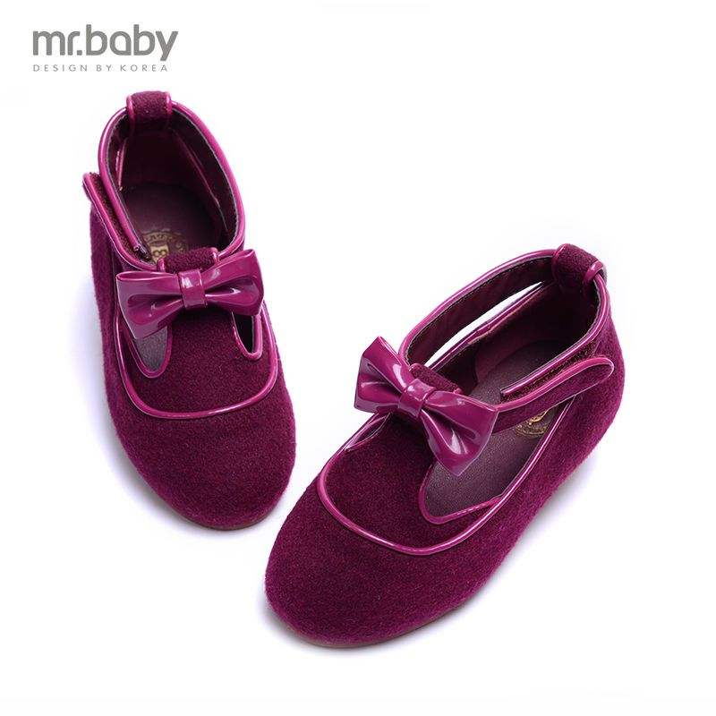 Mr. mr. baby2016 spring and autumn new korean fashion bow shoes shoes wool shoes