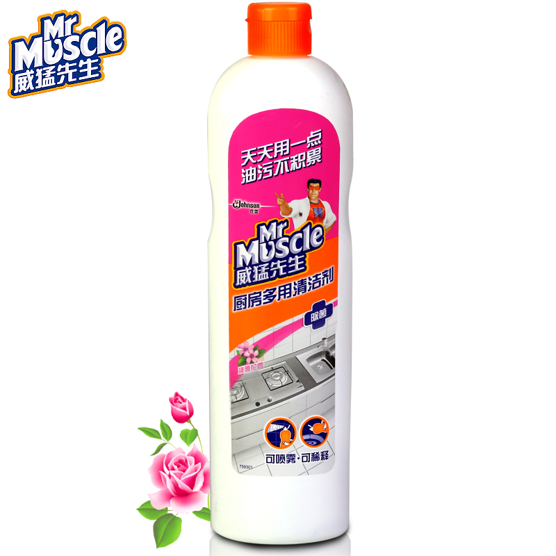 Mr. muscle kitchen multipurpose cleaner (elegant floral) 450g to the hood heavy oil net descaling Agent